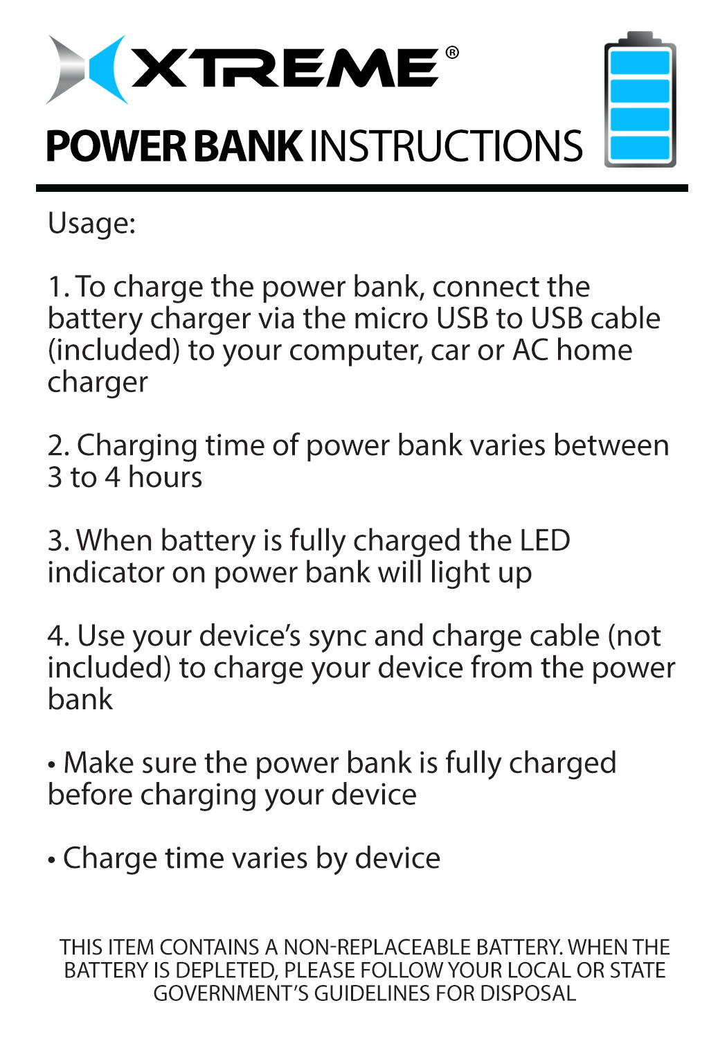 1800mah Power Stick Battery Charger