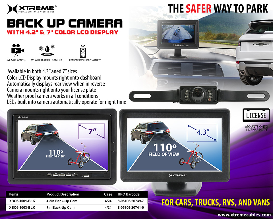 Back Up Camera With Lcd Screen 4 3 Quot Amp 7 Quot