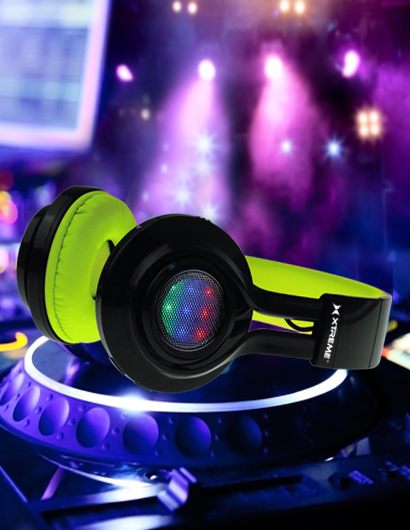 Neon Remix Light Up Headphones