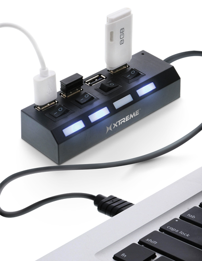 Color : Blue Wuhuizhenjingxiaobu Hub Current Protection USB2.0 4-Port Hub HUB with Overload Voltage USB Splitter Beautiful Appearance Blue